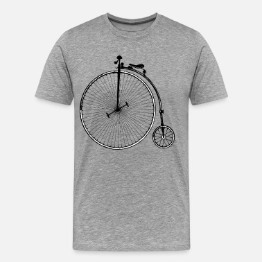 Old Fashioned Vintage old fashioned bicycle clip art - Men's Premium T-Shirt
