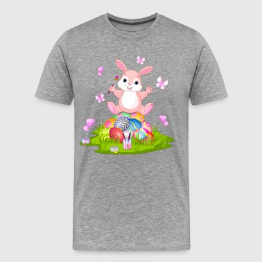 Cartoon bunny with egg - Men's Premium T-Shirt
