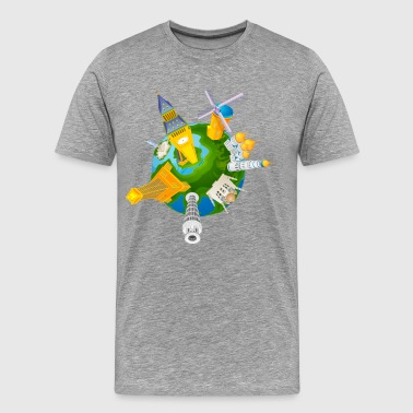 Different travel elements - Men's Premium T-Shirt