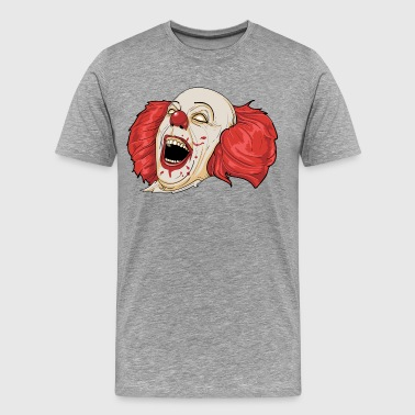 Evil clown laughing art - Men's Premium T-Shirt