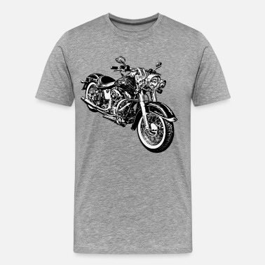 Graphic Motorcycle Motorcycle black and white graphics - Men's Premium T-Shirt