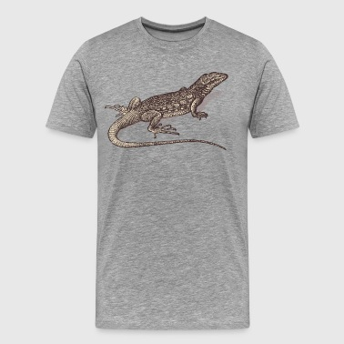 Hand painted animal lizard - Men's Premium T-Shirt