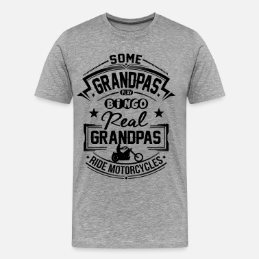 Biker Sayings Biker Grandpa - Men's Premium T-Shirt