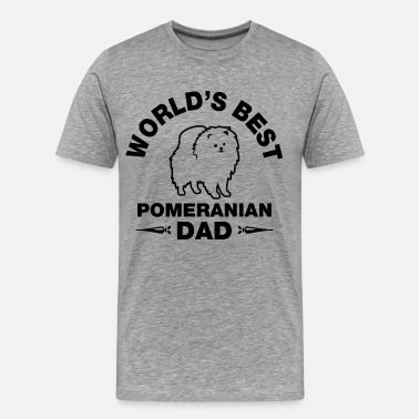 Pomeranian Daddy pomeranian dad - Men's Premium T-Shirt