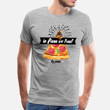 Spreadshirtlikes In Pizza We Trust - Men's Premium T-Shirt