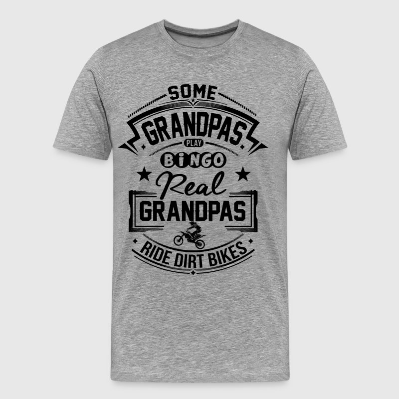 Grandpas Ride Dirt Bike - Men's Premium T-Shirt