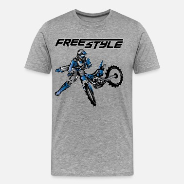 Freestyle Dirt Bikes Yamaha Freestyle Dirt Biker - Men's Premium T-Shirt