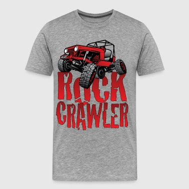 Rock Crawling Red Jeep Rock Crawler Light - Men's Premium T-Shirt