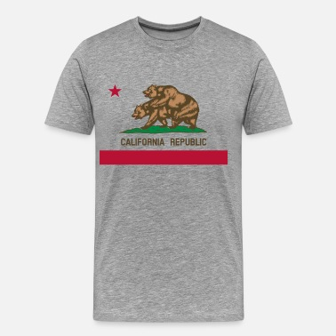 Fucking California california republic - Men's Premium T-Shirt