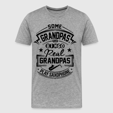 Real Grandpas Play Sax - Men's Premium T-Shirt