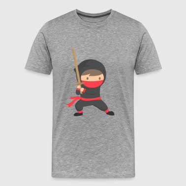 Japanese Ninja and katana - Men's Premium T-Shirt