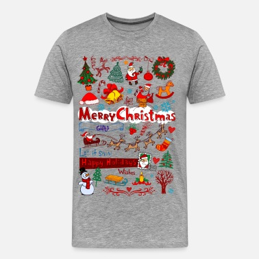Funny Holiday Christmas - Santa - December - Men's Premium T-Shirt