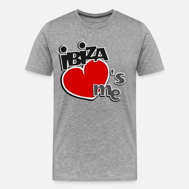 Ibiza Ibiza loves me - classic I heart funny design - Men's Premium T-Shirt
