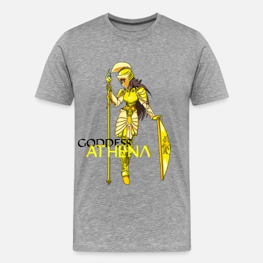Goddess Mythology Goddess Athena - Men's Premium T-Shirt
