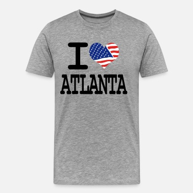 I Love Atlanta i love atlanta - Men's Premium T-Shirt