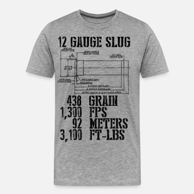 Shotgun 12 Gauge Slug - Men's Premium T-Shirt
