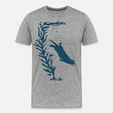 Kelp sea otter kelp forest california marine ocean - Men's Premium T-Shirt