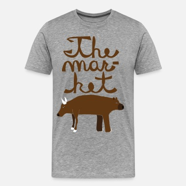 Bull And Bear  the market - Men's Premium T-Shirt