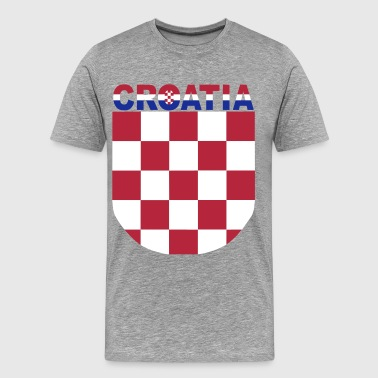 Croatia Hrvatska Sahovnica Logo 3 colour - Men's Premium T-Shirt