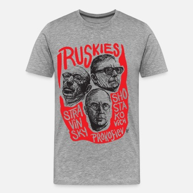 Composer Draw Ruskies-Russian composers - Men's Premium T-Shirt