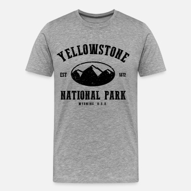 Yosemite National Park Yellowstone National Park - Men's Premium T-Shirt