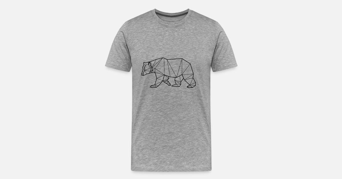5dc49c072b Bear Animal Prism Men s Premium T-Shirt
