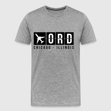 Chicago Airport Code - Men's Premium T-Shirt