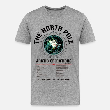 North Pole Workshop The North Pole - Arctic Operations Tee (dk) - Men's Premium T-Shirt