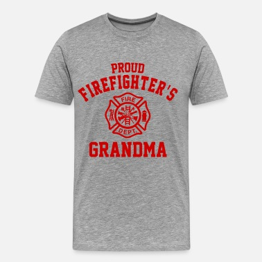 Firefighter Grandma Firefighter's Grandma - Men's Premium T-Shirt
