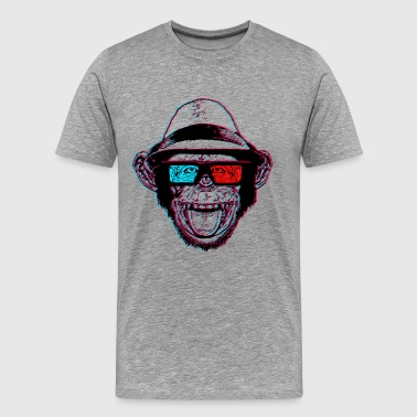 Monkeys HIPSTER CHIMP - AKA THE CHIMPSTER - Men's Premium T-Shirt