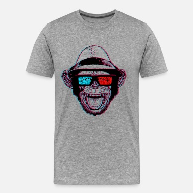Chimp HIPSTER CHIMP - AKA THE CHIMPSTER - Men's Premium T-Shirt
