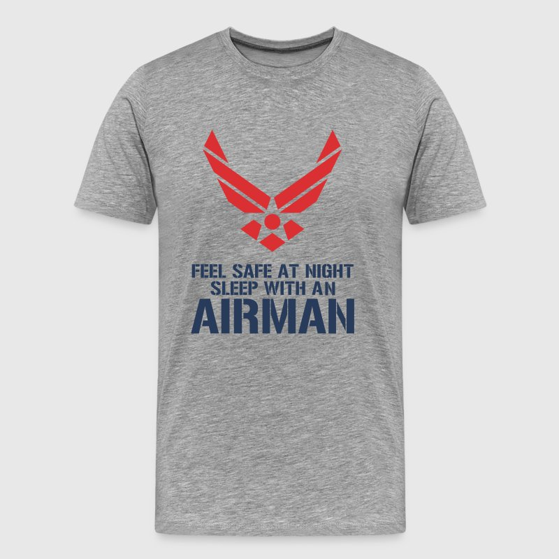 feel_safe_at_night_sleep_with_an_airman - Men's Premium T-Shirt