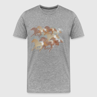 Running Horses - Men's Premium T-Shirt