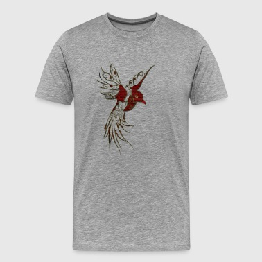 Beautiful decorative bird - Men's Premium T-Shirt