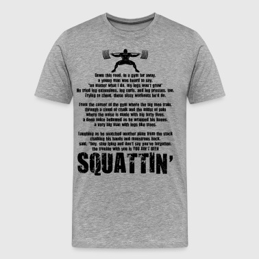 Squat Poem - Men's Premium T-Shirt