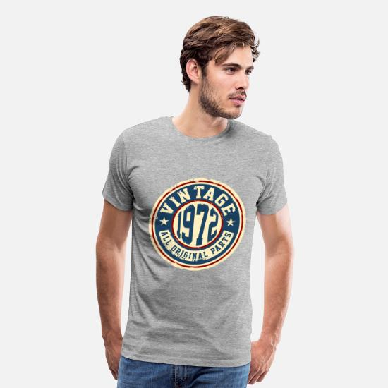 Birthday T-Shirts - Vintage 1972 - Men's Premium T-Shirt heather gray