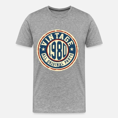 Vintage 1980 Birthday Vintage 1980 - Men's Premium T-Shirt