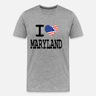 Maryland Love i love maryland - Men's Premium T-Shirt