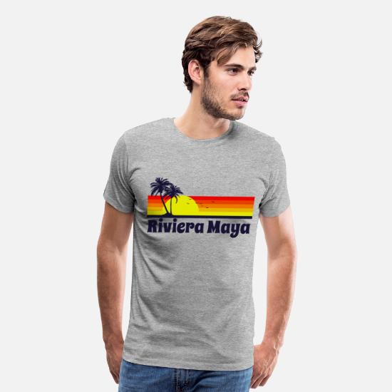Maya T-Shirts - Riviera Maya - Men's Premium T-Shirt heather gray