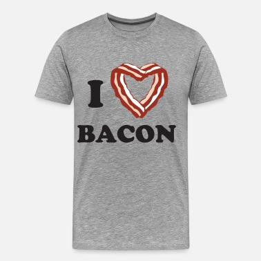 I Love Bacon I heart bacon - Men's Premium T-Shirt