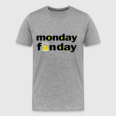 vintage monday_is_a_fun_day funny moday_funday - Men's Premium T-Shirt