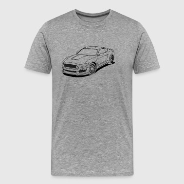 Cool car white outlines - Men's Premium T-Shirt