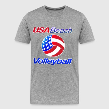 USA Beach Volleyball - Men's Premium T-Shirt