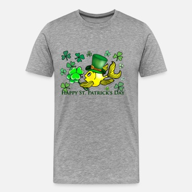 St Patrick Fish St Patricks Fish, Goldfish , Fabspark , Sheemrock - Men's Premium T-Shirt