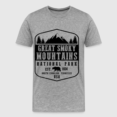 Great Smoky Mountains - Men's Premium T-Shirt
