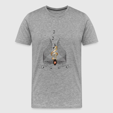 Key Music Note Music, decorative clef and key notes - Men's Premium T-Shirt
