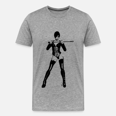 Playgirl Lady mistress domina whip - Men's Premium T-Shirt