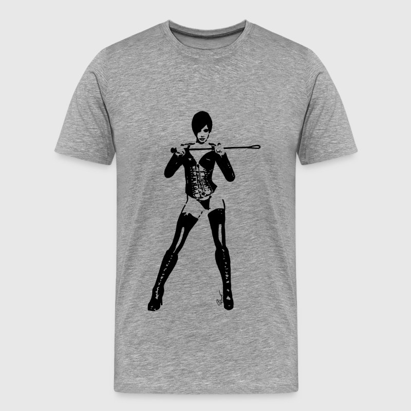 Lady mistress domina whip - Men's Premium T-Shirt