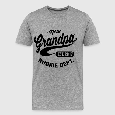 Rookie New Grandpa 2017 - Men's Premium T-Shirt
