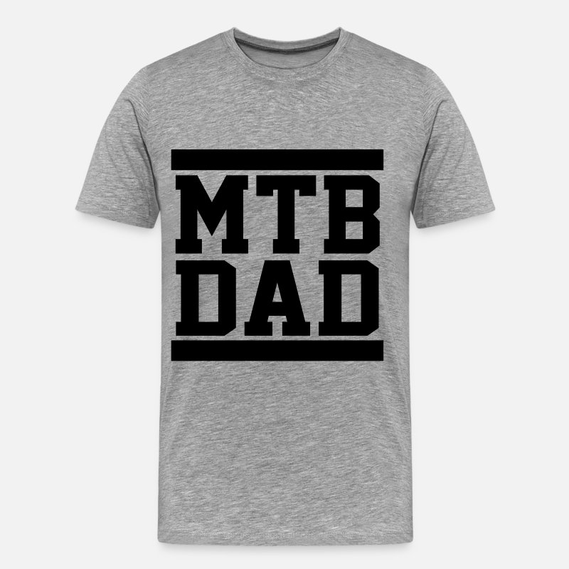 Bike T-Shirts - MTB Dad - Men's Premium T-Shirt heather gray